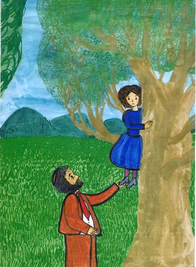 Lea auf dem Baum