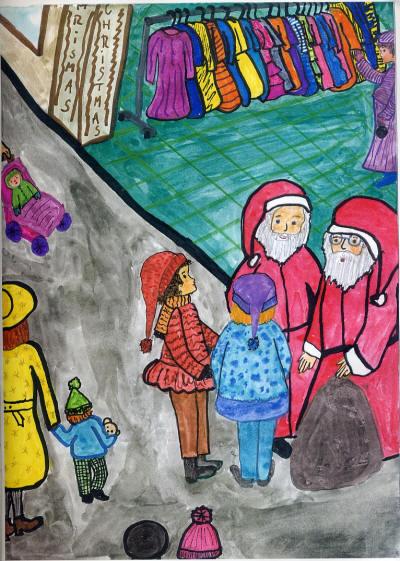 Lea trifft den Nikolaus